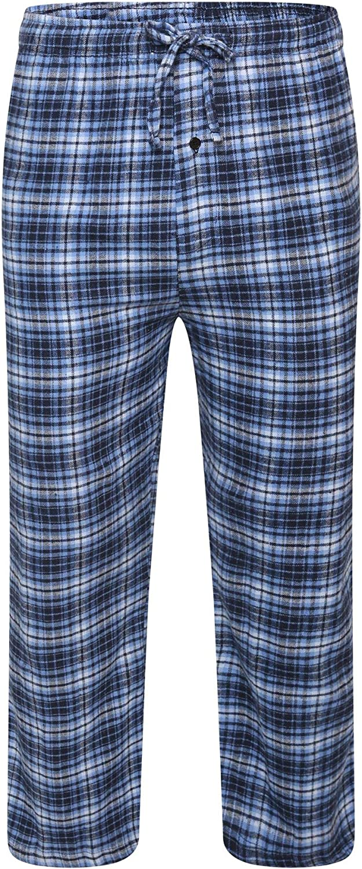 gro/ß und hoch Style It Up Herren Pyjama Pyjama /Übergr/ö/ßen bis 4XL Nachtw/äsche Nachtw/äsche Lounge-Hose Baumwoll-Flanell-Hose
