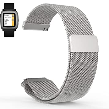 Aresh Pulsera de repuesto para Pebble 2 + Frecuencia Cardíaca, 22 mm, suave silicona, goma, para Pebble 2, Pebble 2 Time, Pebble 2 Time Steel