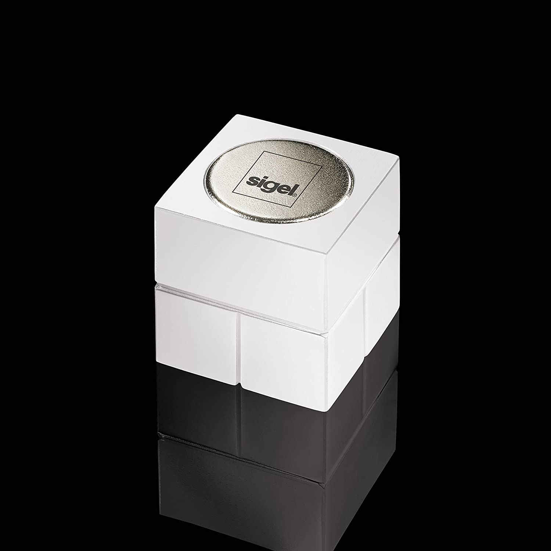 SIGEL GL706 Magneti SuperDym Artverum per lavagne magnetiche di vetro 2 pz argento a forma di cubo
