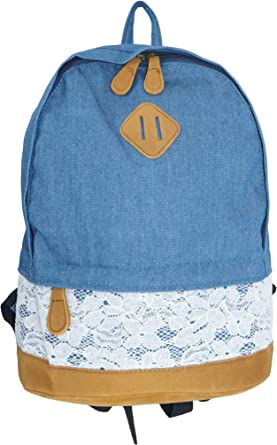 Unisex Simple Fashion Denim Travel Backpack Bags School bag Casual Retro