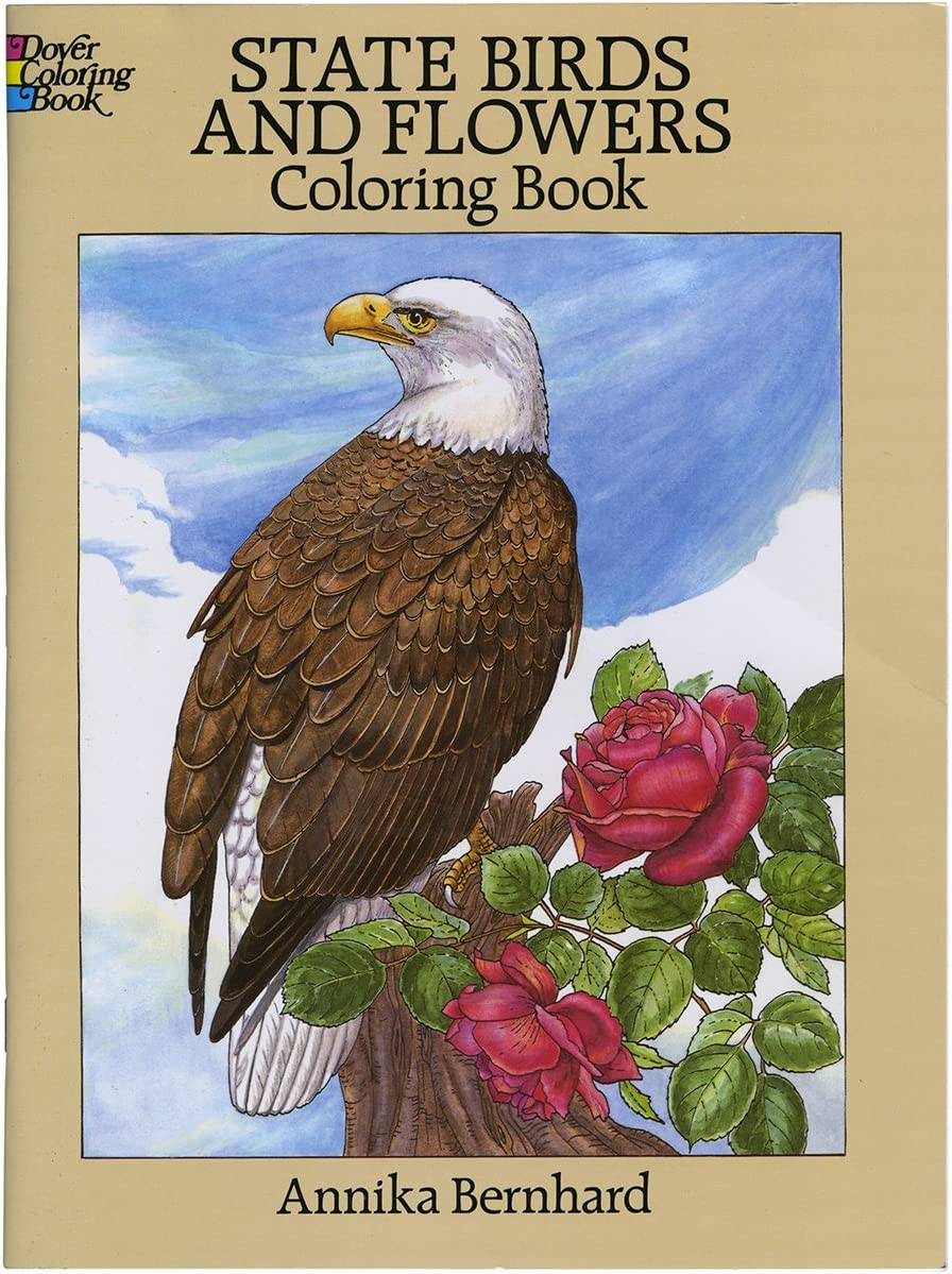 - Amazon.com: Dover Publications-State Birds & Flowers Coloring Book