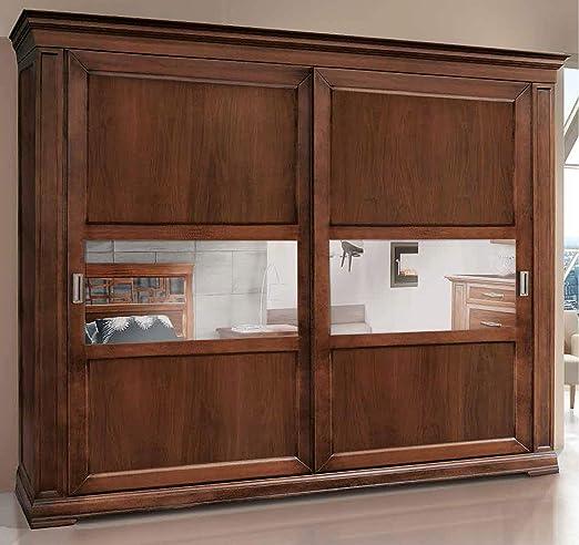 Dafne Italian Design - Armario de 2 puertas correderas de madera ...