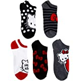 Hello Kitty Women's 5 Pack No Show Socks