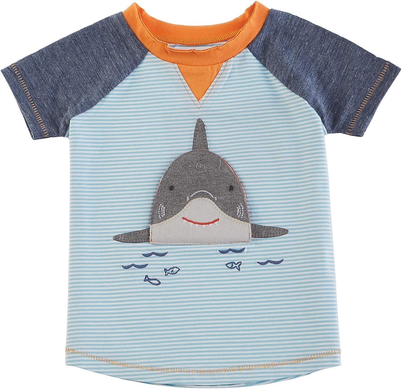 Mud Pie Boys' Shark Tshirt Medium, Multi, 2T-3T