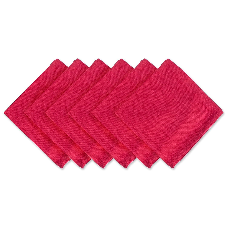 Oversized Cardinal Red Cotton Napkins Set of 6 | ChristmasTablescapeDecor.com