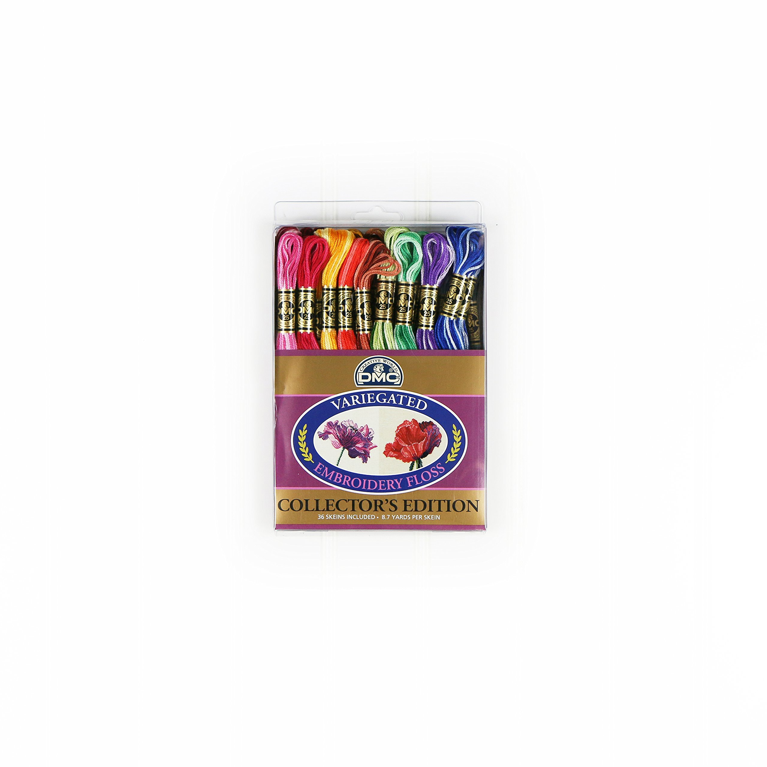 DMC F25PK36 Variegated Embroidery Floss, Assorted, 36-Pack by DMC