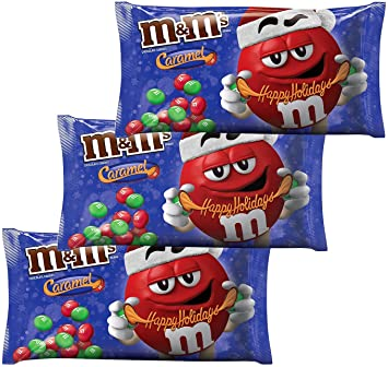Amazon.com : M&M Solid Milk Chocolate and Caramel Christmas Candy ...