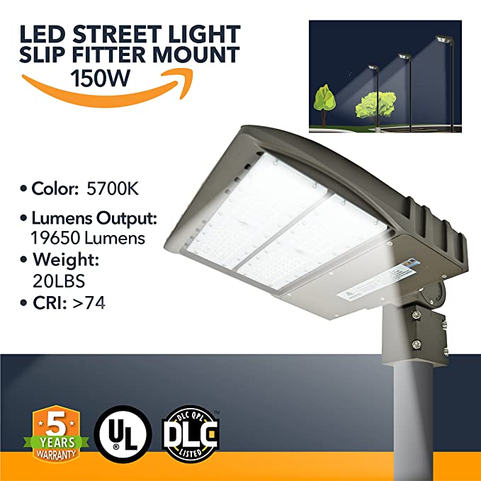 2. Green Light Depot 150W LED DLC Street Lights