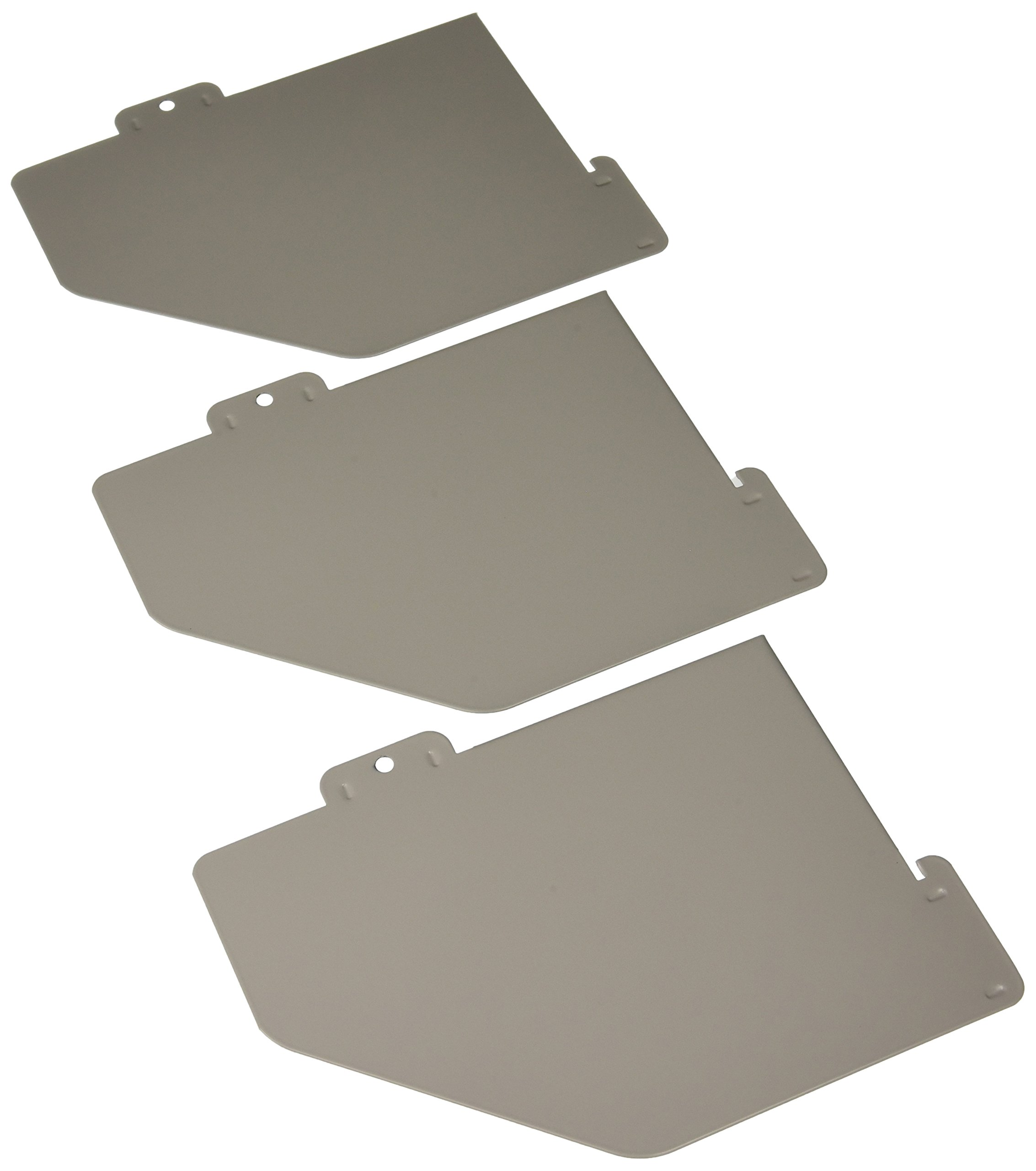 Buddy Products Three Pack Shelf Dividers for Rolling Carts, Steel, .25 x 9 x 11 Inches, Platinum (5425-32)
