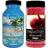 Spazazz Spa and Bath Crystals for Hot Tub and Bath Tubs — Set The Mood Love Potion #9 Seduction 17oz (482g) and Destinations