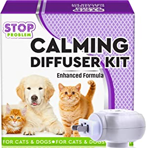 Beloved Pets Pheromone Calming Diffuser Plug in + Refill for Cats and Dogs with Long-Lasting Effect - Enhanced Calm Formula of Anxiety Relief & Pet's Behavior Control - Best Natural Stress Prevention