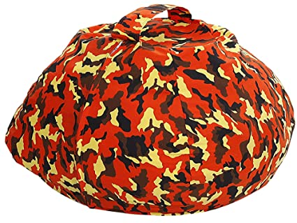 Amazoncom Stuffed Animal Bean Bag Covers Orange Camouflage 30 Inch