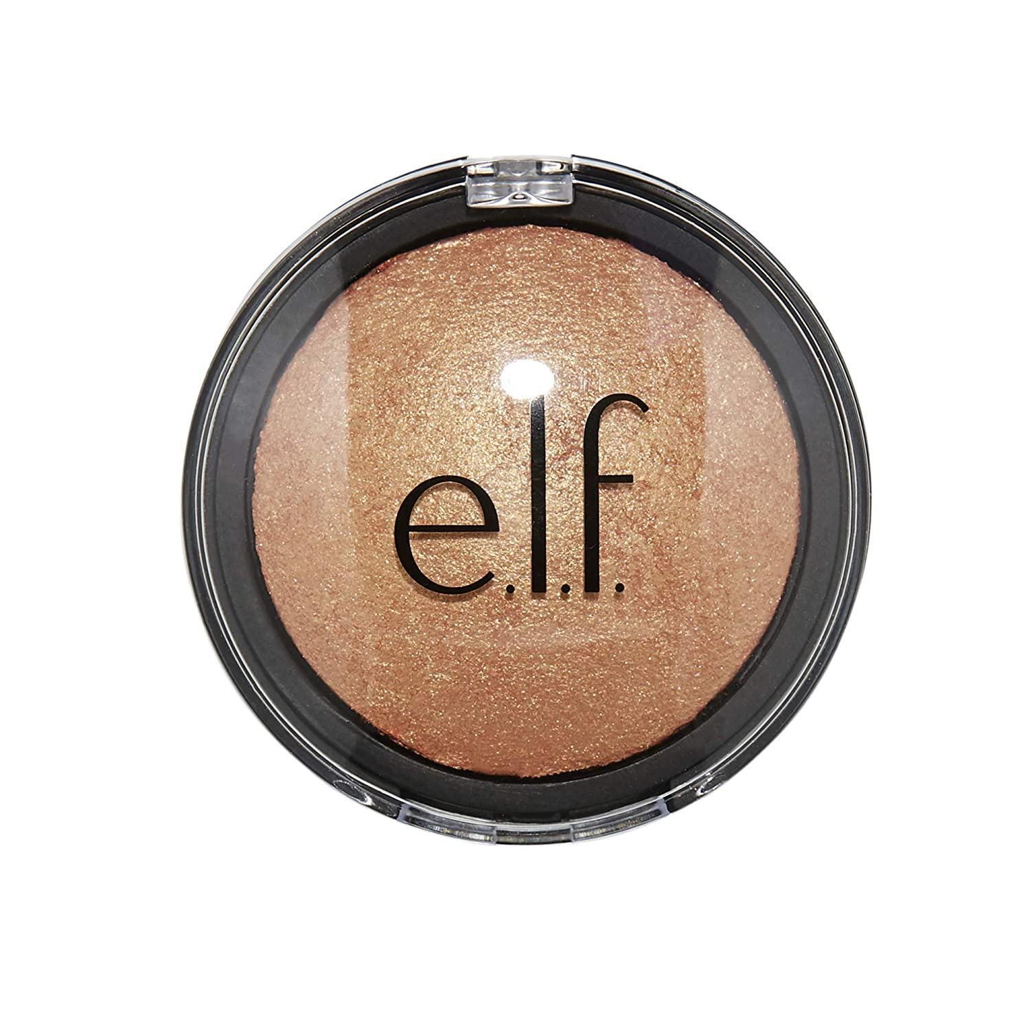 e.l.f. Baked Highlighter, Sheer Shimmering Color, Apricot Glow, 0.16 Ounce