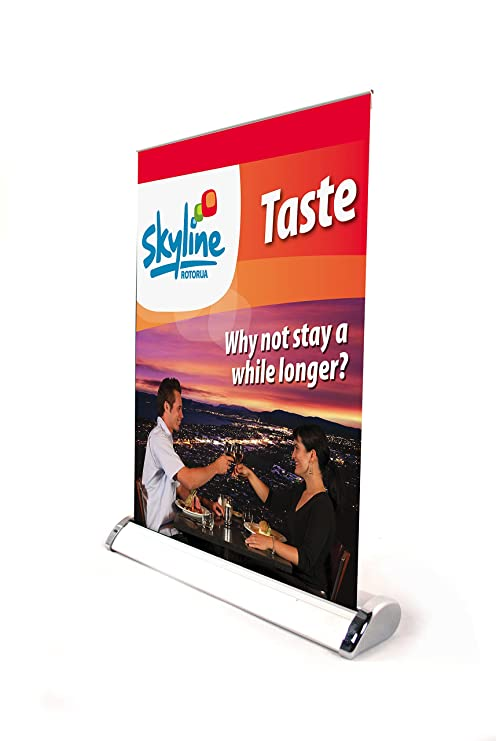 dec2f8c86b2ac1 Displayfactory USA Mini Roll up Stand Table Top Retractable Banner A3 Size  Single/double Sided