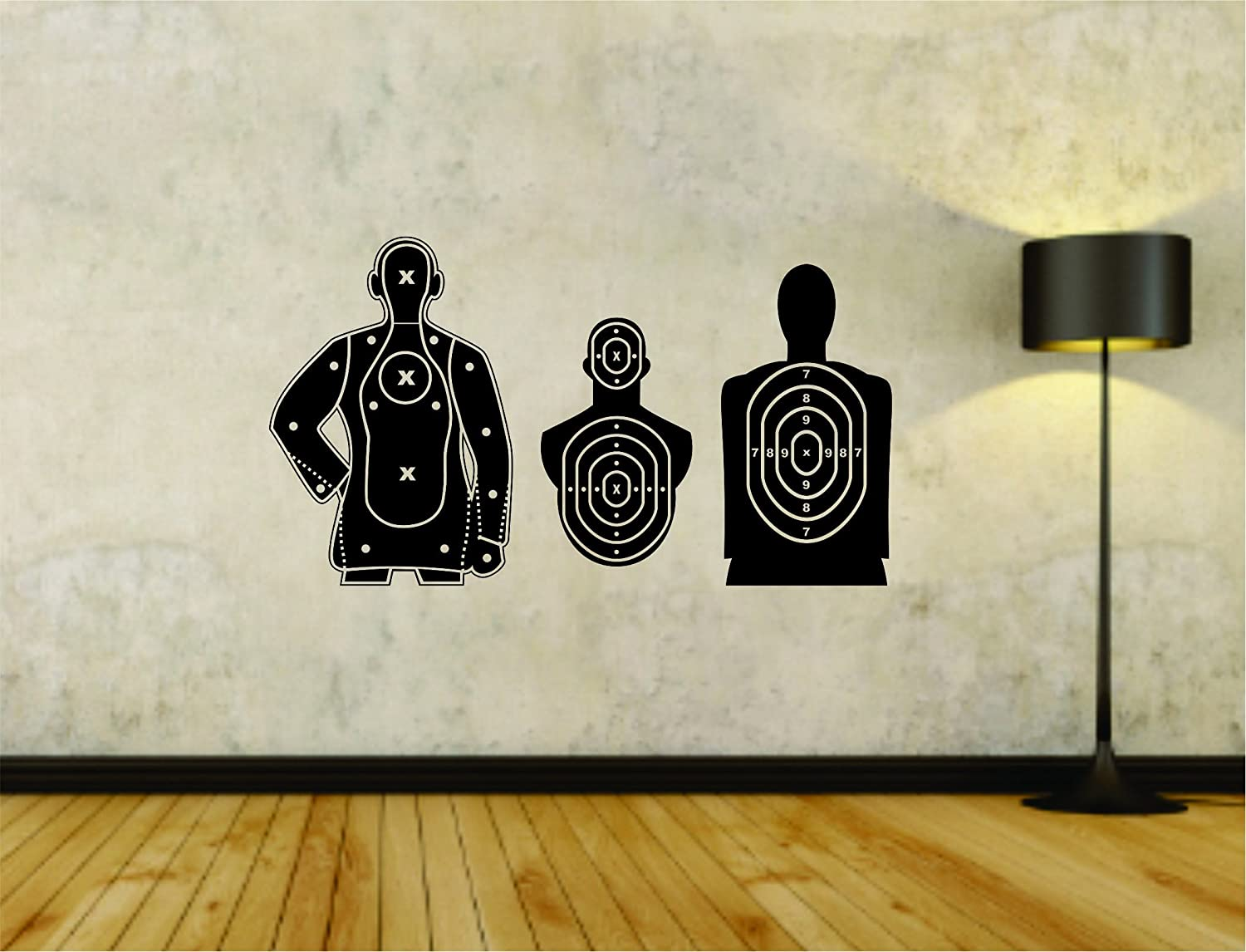 Target Targets for Shooting Display Store Business Weapon Training Vinyl Wall Decal Sticker Car Window Truck Decals Stickers Target01OCC4 16x28