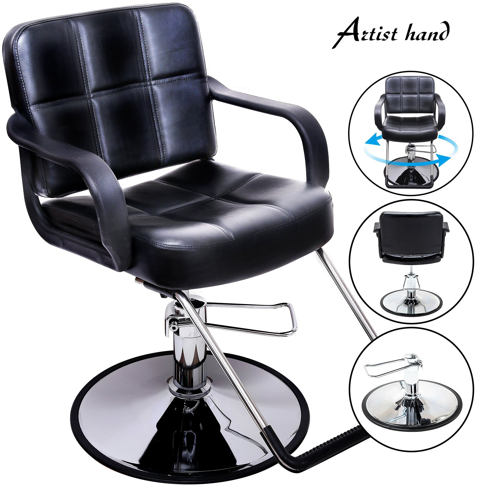 Artist Hand Hydraulic Barber Chair Salon Chair for Hair Stylist Tattoo Chair Shampoo Salon Equipment by Artist Hand