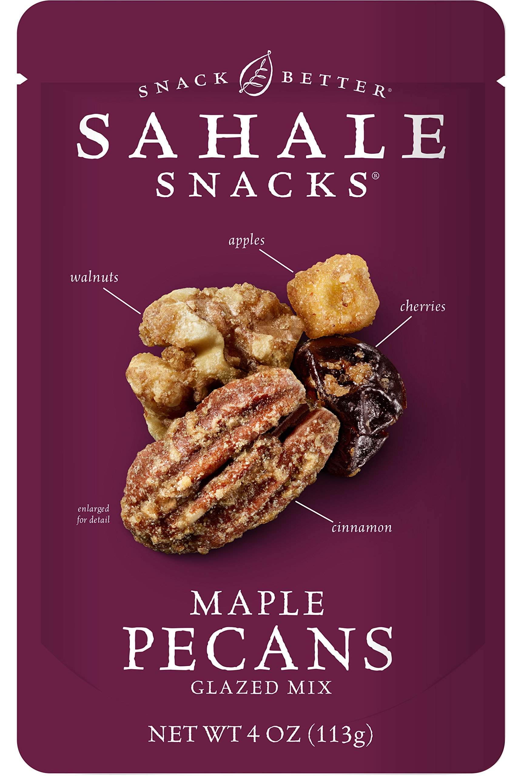 Sahale Snacks Maple Pecans Glazed Mix, 4 Ounce (Pack of 6)