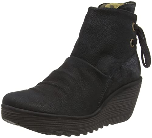 eab5241169f Fly London Women's YAMA Ankle Boots, Black/Anthracite 058, 2.5 (35 EU