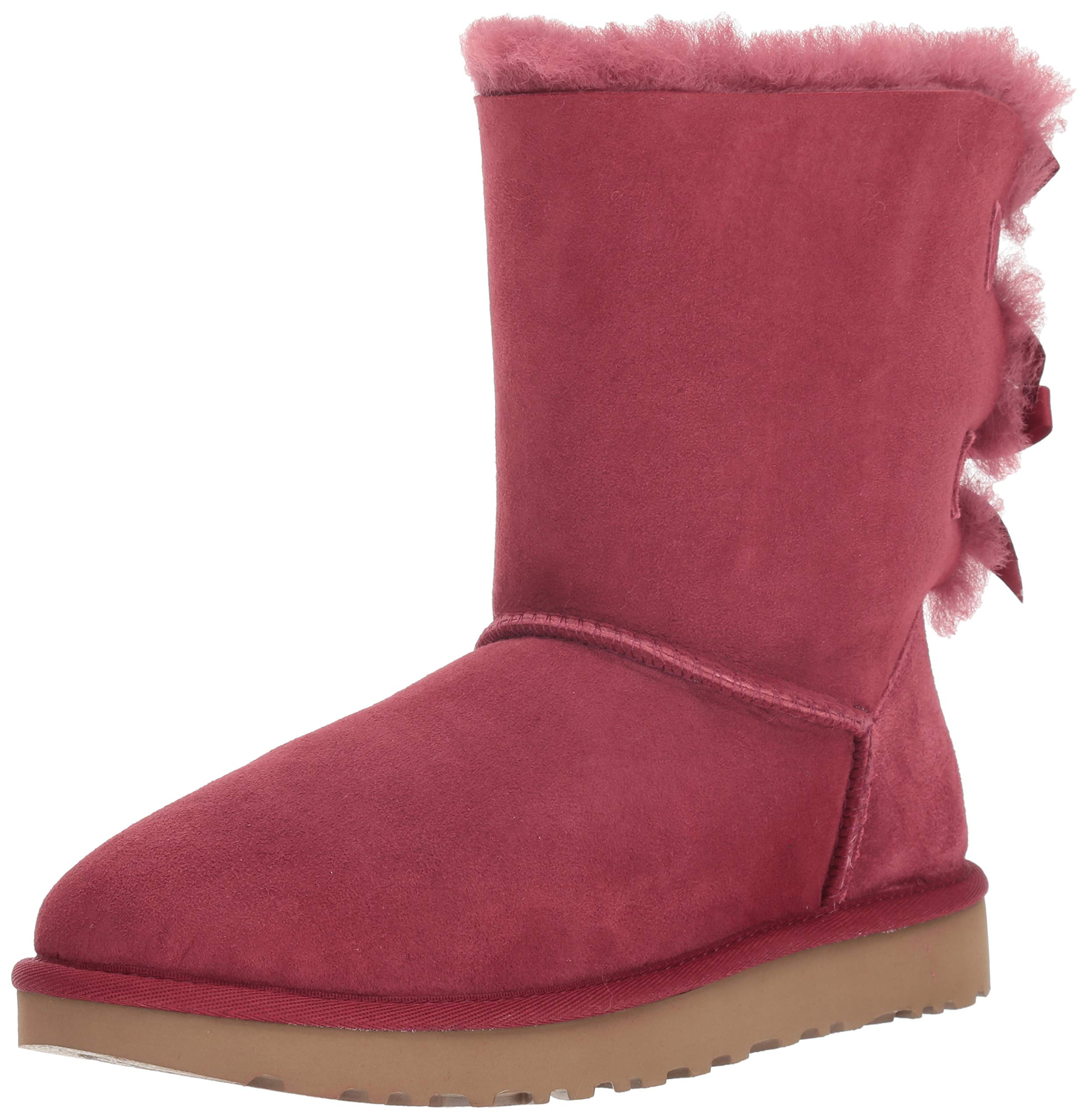 UGG Women's W Bailey Bow II Fashion Boot Garnet 12 M US