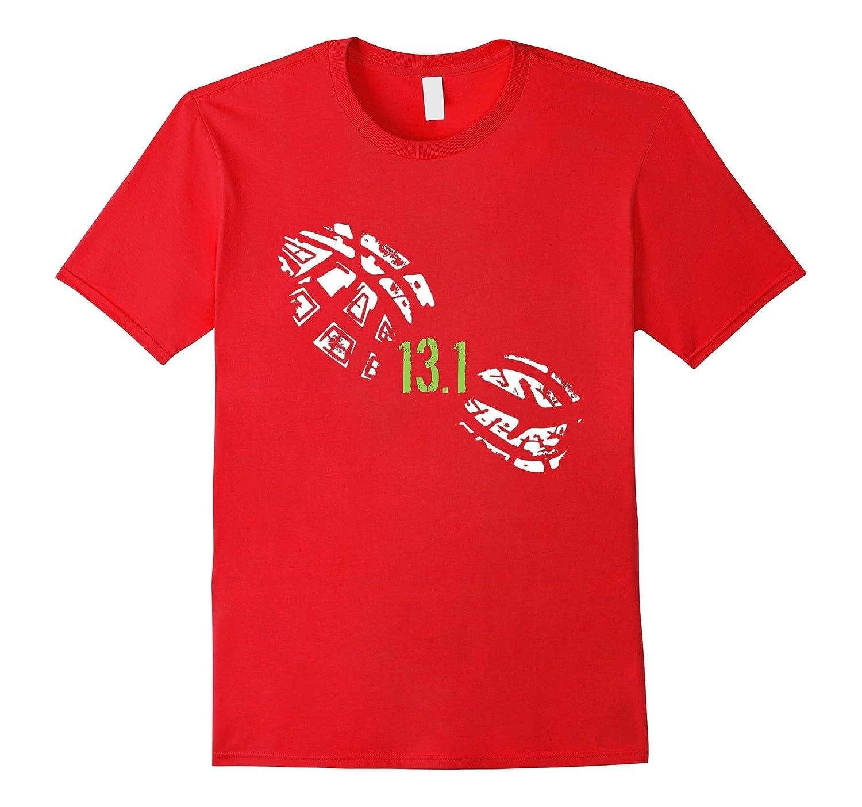 131 Miles Running Shoe Print Half Marathon Runner T-Shirt-Vaci