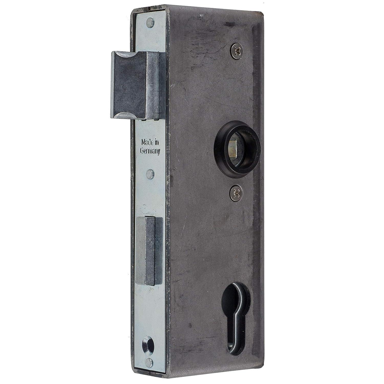 Einschwei/ß-Kasten Einsteckschloss f/ür Metalltore PZ//W 72//40//8 Stulp 33x166 incl