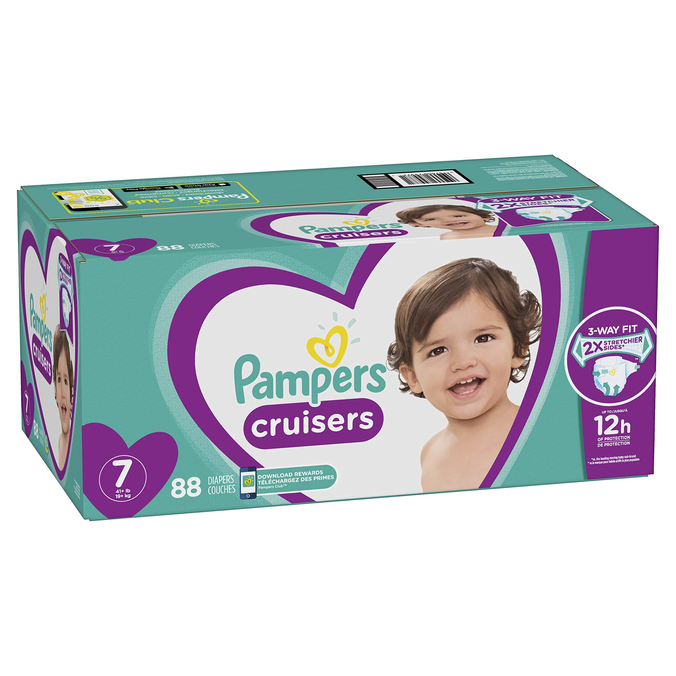 Diapers Size 7, 88 Count - Pampers Cruisers Disposable Baby Diapers, ONE MONTH SUPPLY by Pampers
