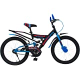 MAD MAXX BIKES Shocker Avenger 20T Kid's Road Cycle, 20 inches Matte Finish Black Green/HM Blue for 7 to 10 Years Child