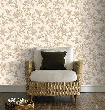 Boutique Sarra Trail Leaf Print Glitter Gold Wallpaper