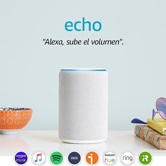 Image ofAmazon Echo (3.ª generación) - Altavoz inteligente con Alexa - tela de color gris claro