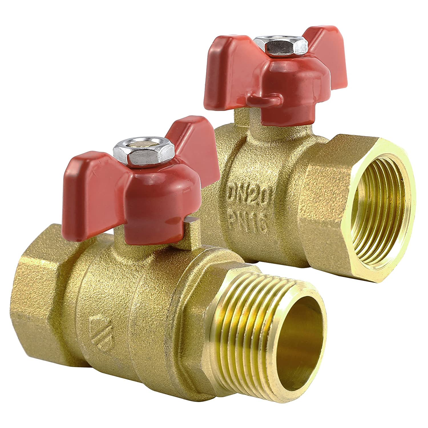 1 T Handle Ball Valves Red Handle BSP,T Lever Butterfly Ball Valves