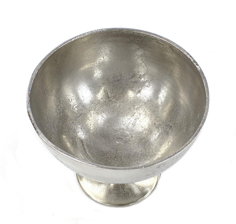 DARO DEKO Obst-Schale mit Fu/ß aus Aluminium /Ø 27cm