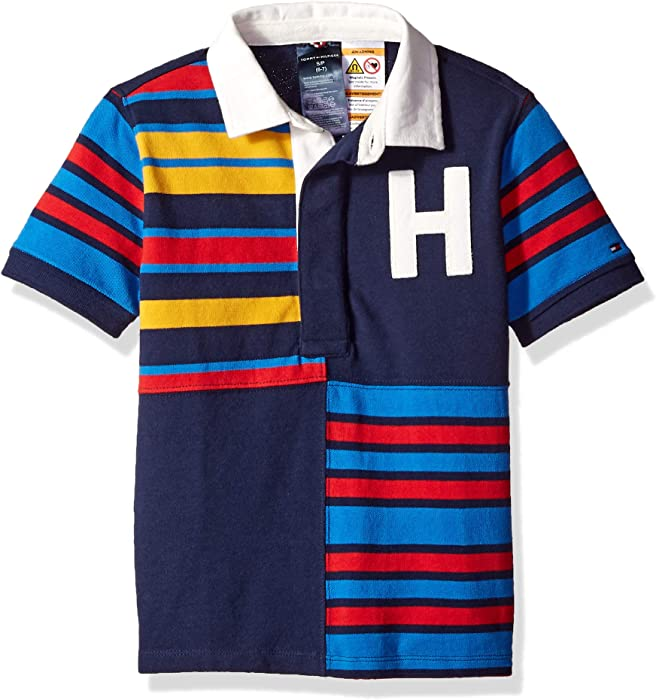 8844e740591 Tommy Hilfiger Adaptive Boys Polo Shirt with Magnetic Buttons, Peacoat,  Small