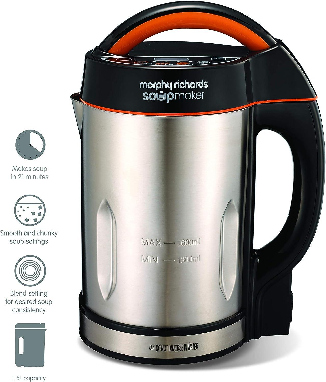 Morphy Richards 48822 1.6L licuadora y máquina para hacer sopa ...