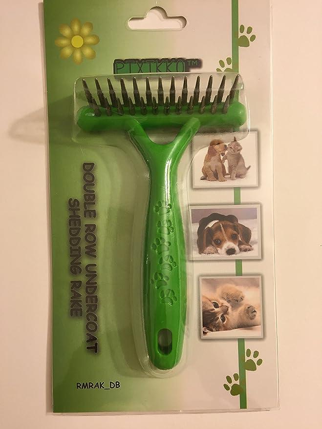 Pixikko Rastrillo de Doble Fila para Gatos y Perros: Amazon.es ...