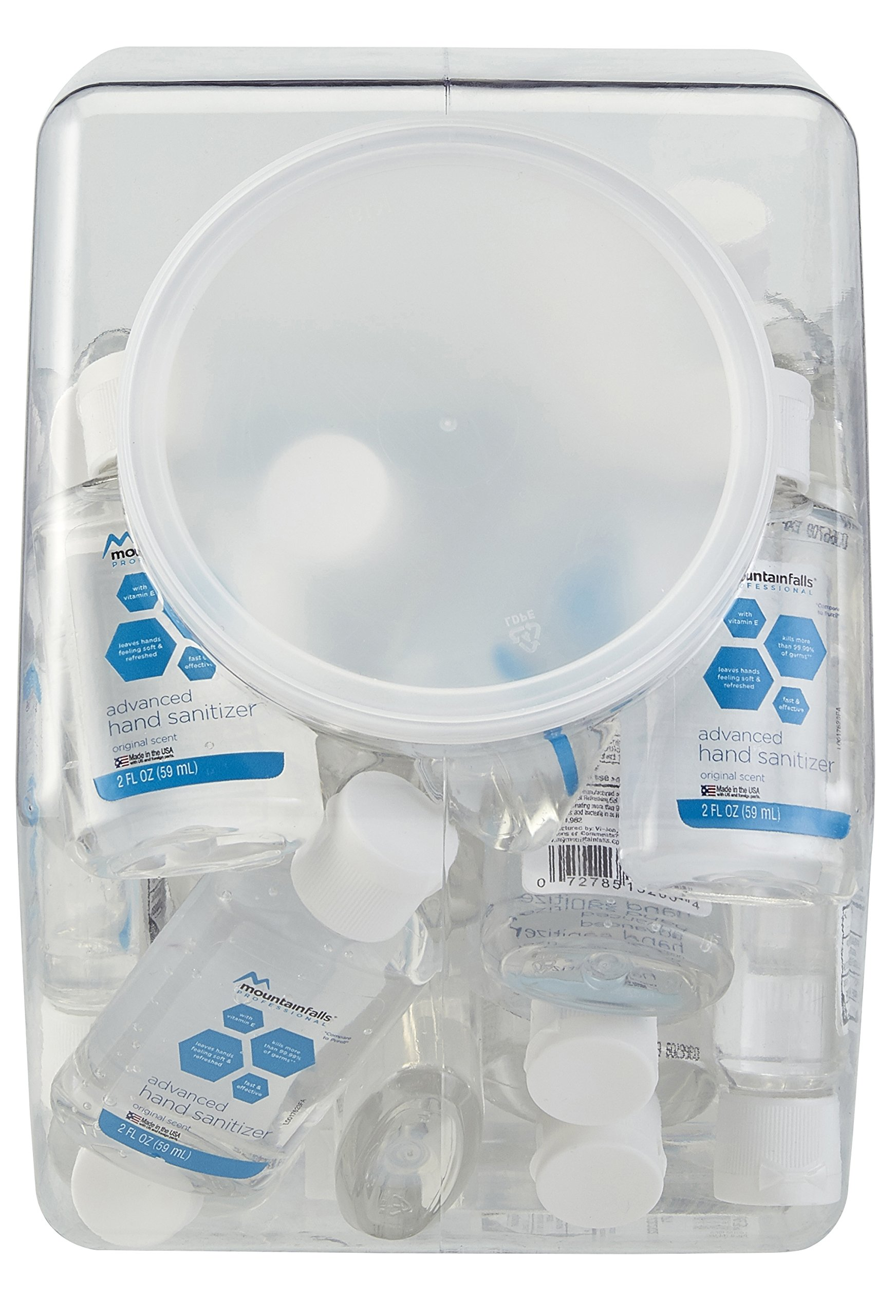 Mountain Falls Professional Advanced Original Hand Sanitizer Fishbowl with 36, 2 Fluid Ounce Bottles by Mountain Falls (Image #1)