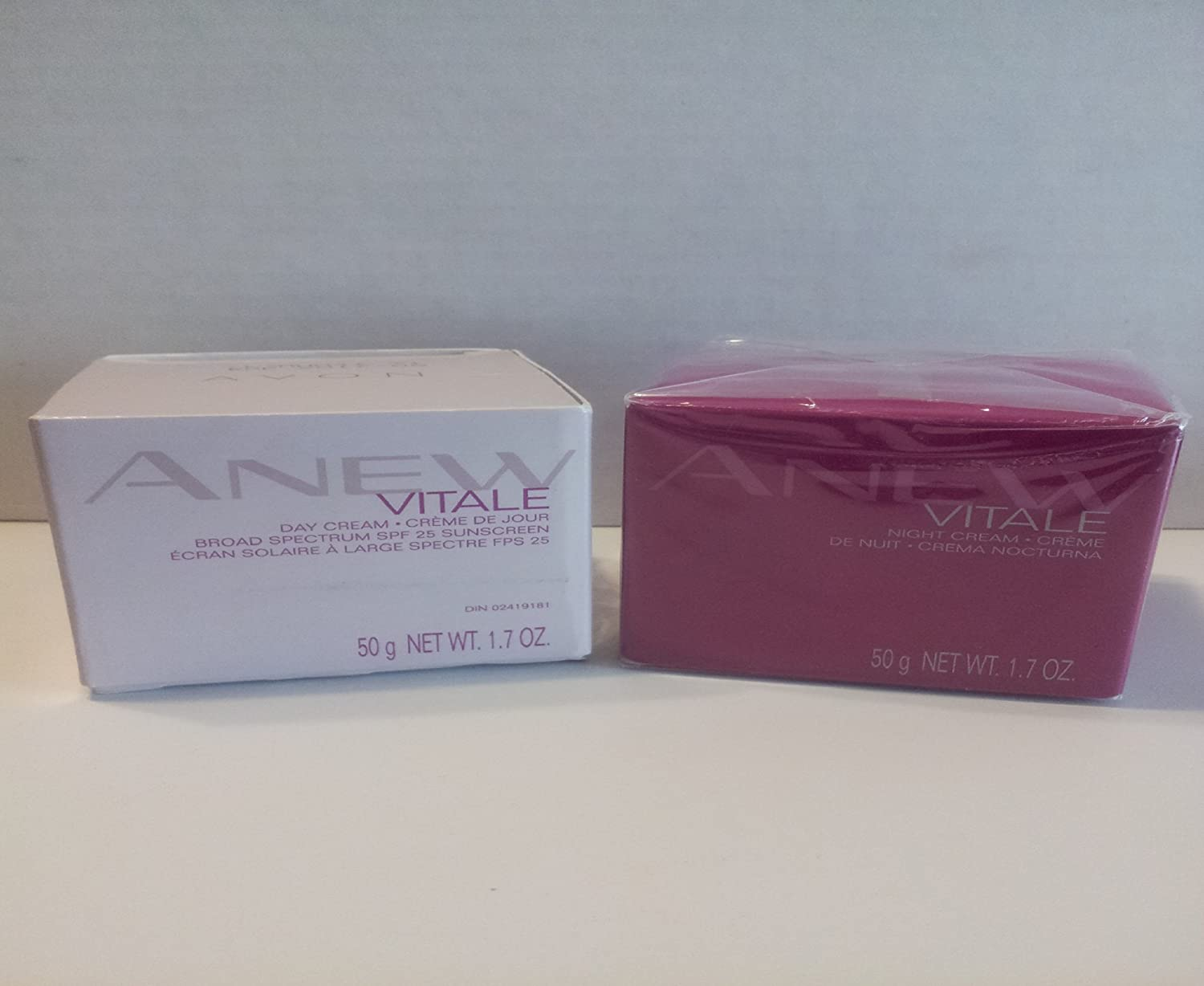 2 Piece Bundle, Avon Anew Vitale Day and Night Cream Set