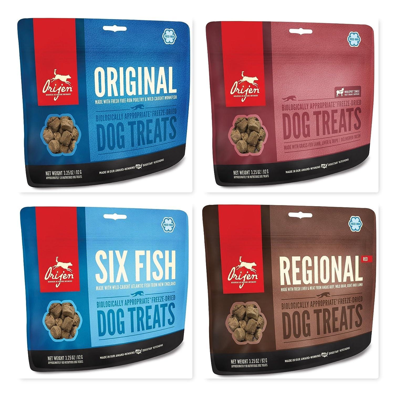 Amazon.com : Orijen Freeze Dried Dog Treats 4 Pack Bundle; includes ...