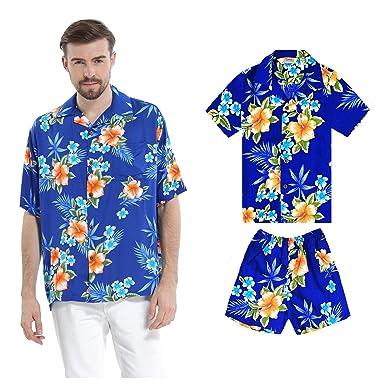 Juego Hawaiano Traje de Luau Camisa de Hombre Camisa de niño ...