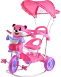 Stepupp Tricycle for Kids Blue Colour with Parent Handel or Music or Front Back Basket with Canopy Baby Tricycle for Baby boy or Baby Girl Kids trikes (RED)