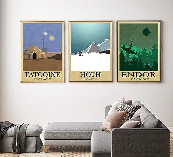 Amazon Star Wars Travel Poster Set Minimalist Prints