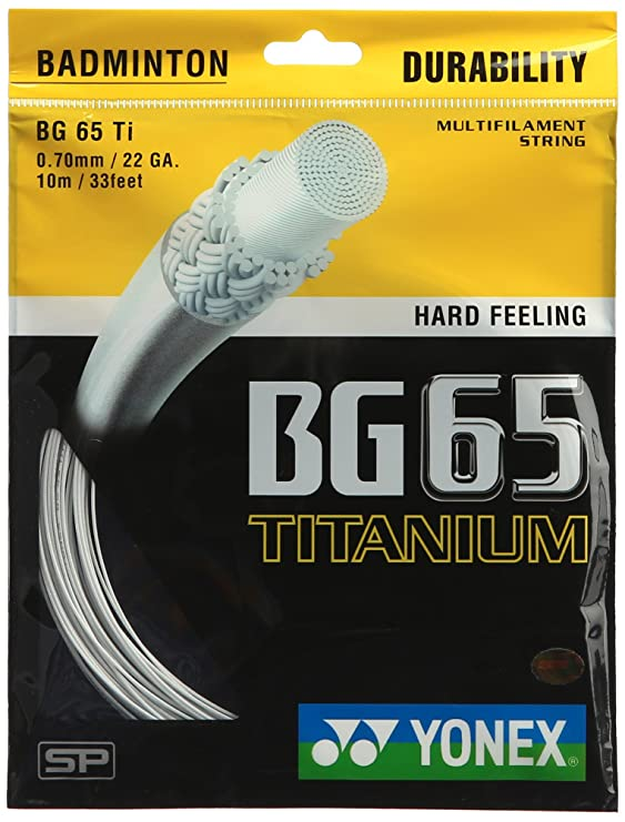 Yonex Titanium BG 65 Badminton Strings, 0.70mm Strings