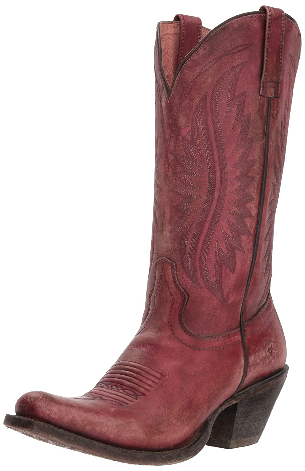 Ariat Women's Circuit Salem Western Boot B076MKD4WS 10 B(M) US|Naturally Distressed Pink