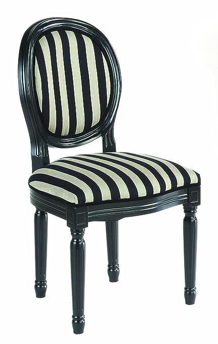 Noir Lot Rayures pour Médaillon cm x Fauteuils Blanc Murano Séjour 50 96 Tissu et Salon Chambre x de 2 Bureau 56 OPn0wk
