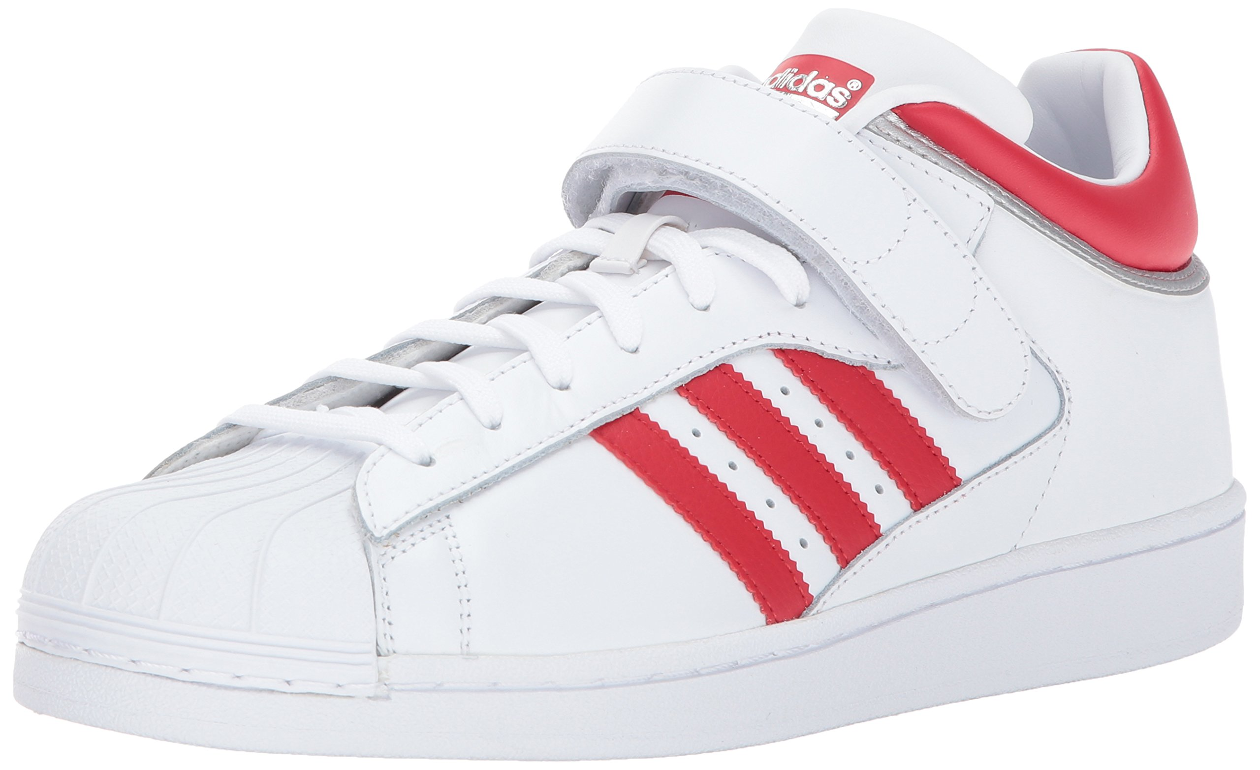 new styles 69938 6fe64 Galleon - Adidas Originals Men s Pro Shell Running Shoe, White Scarlet Metallic  Silver, (11 M US)