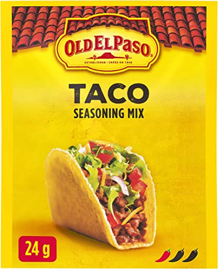 Old El Paso Taco Seasoning Mix 24 Gram Amazon Ca Grocery
