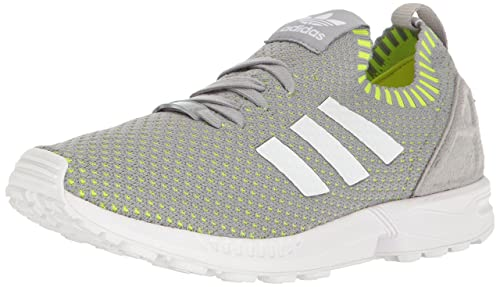 detailed look 4dc01 01342 adidas Men s ZX Flux Pk Midgrey Footwear White Solar Yellow Running Shoe  7.5 Men