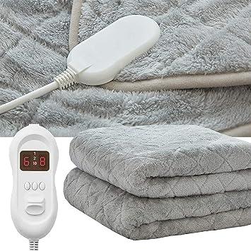 ASDF Manta eléctrica, tamaño Doble, Controles Dobles con calefacción, 8 Niveles de Temperatura Manta eléctrica con función de Temporizador de Apagado automático: Amazon.es: Deportes y aire libre