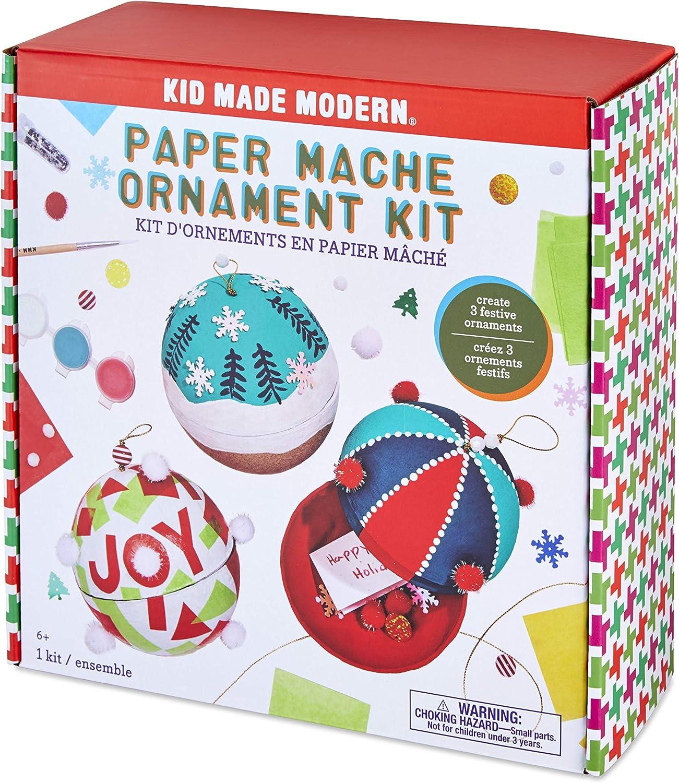 Kid Made Modern Christmas Craft Kit Paper Mache Ornament Kit