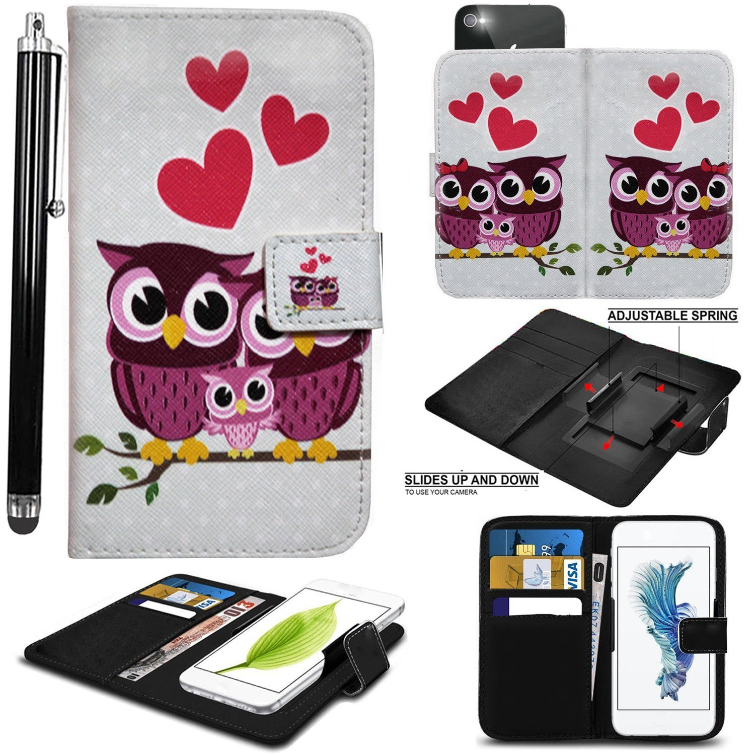 newest e9aab 25a9b PRINTED DESIGN Mobile Stuff case for Argos Alba 5 Inch case cover pouch  Thin Faux Leather Hold it Spring Clamp Clip on Adjustable Book + Free  Stylus ...