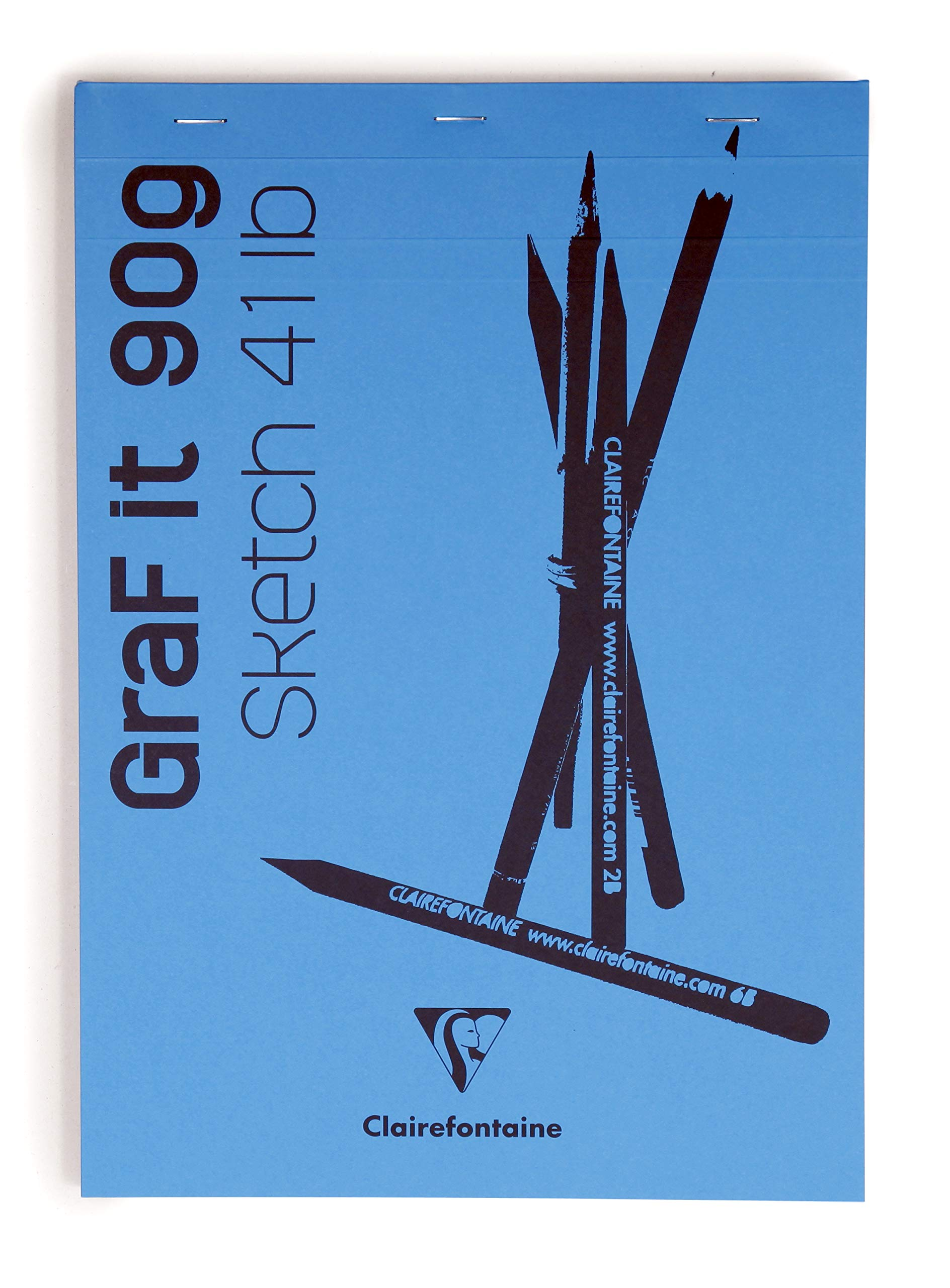 90g Cover A5 Clairefontaine GRAF It Sketch Pad Sky Blue